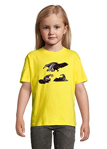 Cartoon Ant Eaters Yellow Colorful Kids T-Shirt 8 Year Old