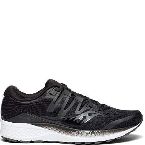 Saucony Women's Ride ISO Running Shoes (7 B(M) US, Black)