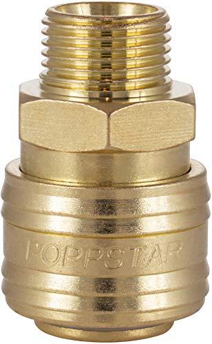 Poppstar Attacco Rapido per Aria Compressa DN 7,2 con Filettatura Esterna da 3/8 Pollici