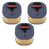 Haishine 3Pcs / Lot Filtro de Aire Limpiador de Ajuste para Husqvarna 372 XP, 372XP Tipo de Trabajo Pesado Repuestos de Motosierra # 503 81 80-01