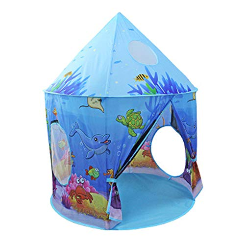 ljc Girls Play Tent Toy With Glow In The Dark Stars Kids Princess Castle Playhouse Birthday Gift For Children Toddlers Indoor And Outdoor Games With Carry Case