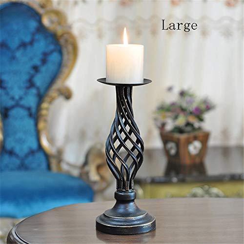DevilLover Vintage Hohlen Schmiedeeisernen KerzenstäNder Candlelight Dinner Requisiten Ornament FüR Home Hochzeitstag Dekoration,Large