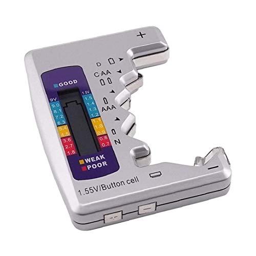Naisicatar Digital-Batterie-Tester Universal Battery Checker Für Alle Batterie C Aa AAA C D 9v Und 1 5 V Knopfzelle Kleine Mini-batterien