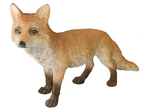 colourliving Fuchs Figur Hank auf der Jagd Dekofigur Fuchs Tierfigur 50 cm lang für Garten und Haus Dekoration