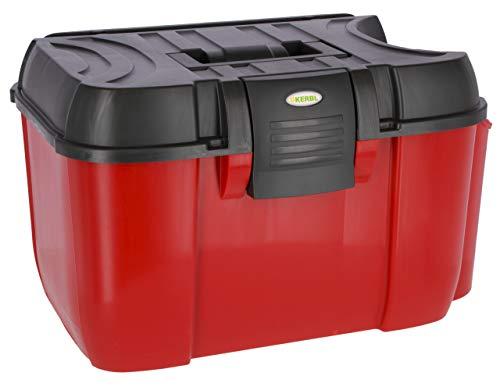 Kerbl 3220552 Jumbo - Caja de Limpieza con Accesorio extraíble, Color Rojo y Negro