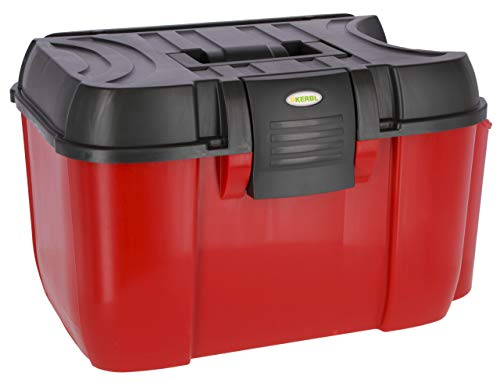 Kerbl 3220552 Putzbox Jumbo Rot/Schwarz Mit Herausnehmbaren Einsatz