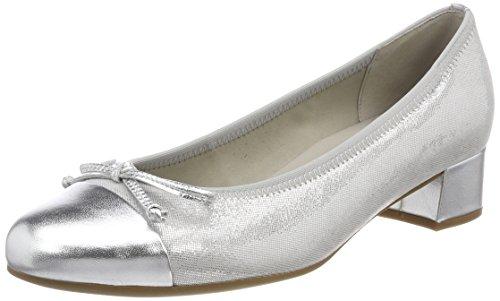 Gabor Shoes Damen Basic Pumps, Grau (Stone/Silber), 35.5 EU