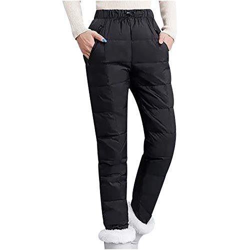 Dasongff Damen Mädchen Plus Size Thermohose Damen Winter Winterhose Super Dicke Extra Dicke Daunenhose Ski-Hosen