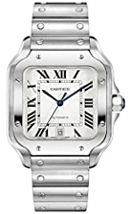 Swiss Made. Cartier Large Model WSSA0009 Includes Additional Leather Strap and Deployment Buckle