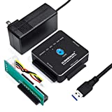 Kingwin USB 3.0 to SSD/SATA/IDE Adapter for 2.5 Inch, 3.5 Inch, 5.25 Inch Hard Drives with Offline One Touch Clone/Duplicator Function, Tool-Free, SATA I/II/III Support, Black, 3 TB (USI-2535CLU3)
