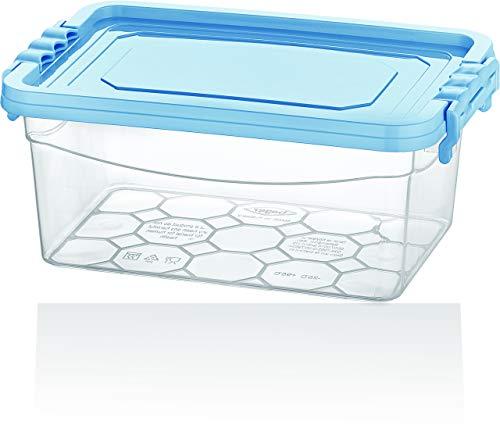 BAGER 4er Set(4 Farben) 6,5 Liter Frischhaltedosen Vorratsdosen Vorratsbehälter Aufbewahrungsboxen Aufbewahrungsbehälter mit Deckel Multifunktionsbox