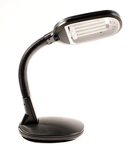 Natural Full Spectrum Daylight Lighting Desk Lamp Pure Sun Light 27W (Black)