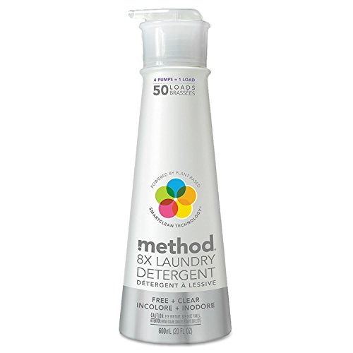 Method 8X Laundry Detergent, Free & Clear, 20 oz Bottle (MTH01126)