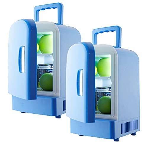 YINGGEXU Mini Nevera 4L Coche Refrigerador Automóvil Mini Refrigeradores Congelador Caja de Refrigeración Frigobar Alimentos Frigobar Frutas Almacenamiento Refrigerador Compresor