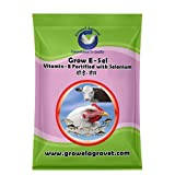 Growel Grow E-Sel - Vitamin- E,Vitamin -C,Biotin & Selenium for Pigeon, Poultry, Birds & Farm Animals- 500 gm. (Large)
