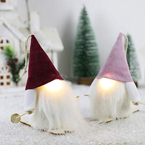 A-O 2020 Christmas Holiday Gnome Handmade Swedish Tomte, Christmas Elf Decoration Ornaments Thanks Giving Day Gifts Swedish Gnomes