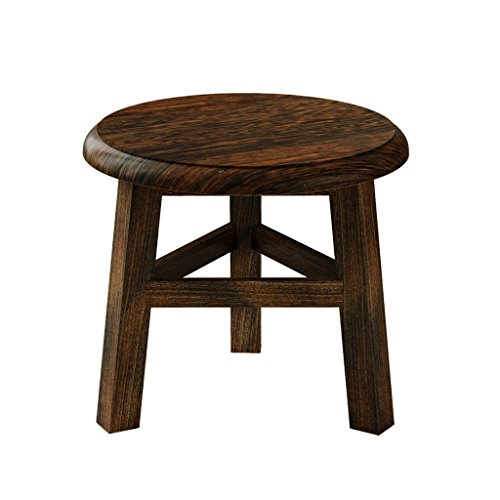 hsj LF- Taburete pequeño de moda hogar de madera maciza sofá taburete cambio creativo banco de zapatos salón sofá taburete mesa de centro banco bajo taburete pedal cómodo