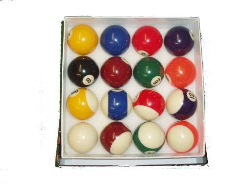 Juego de bolas de billar (5cm), diseño de rayas y lisas