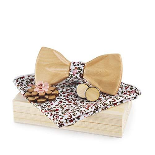 YAOSHI-Bow tie/tie Krawatten und Fliegen für Männer und Frauen 3D Fliege Mode Hochzeit Holz Fliege Set Krawatten und Fliegen für (Farbe : 109)