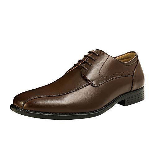 Bruno Marc DP03 Zapatos de Cordones Vestir Oxford para Hombre Marrón Oscuro 42 EU/9 US