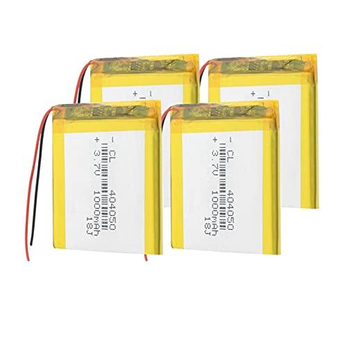 TTCPUYSA Batería De Litio del PolíMero De 3.7v 1000mah 404050 Li, Recargable Protegido del Pwb para La Luz del Led Mp3 Mp4 Mp5 GPS 4pieces