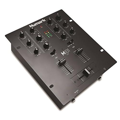 Numark M101USB - Mixer Multiuso 2 Canali a Rack per DJ con EQ a 2 Bande, Ingressi Audio, Ingresso Microfono, Crossfader Sostituibile e Scheda Audio Integrata