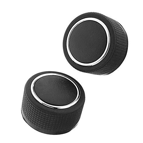 2 Botones de Control de Volumen de Aire Acondicionado Trasero de Radio de Coche para GMC Chevrolet Cadillac Buick