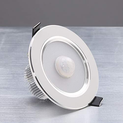 HviLit 5 watt druckguss Aluminium brandschutz led blendfrei Low Profile Decke Downlight Spotlight deckenverkleidung licht Embedded für Bad dusche küche Lounge (3000/6000 Karat 80-90mm)