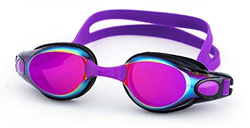 XUXUN Gafas de baño Profesional Anti Niebla Adult Silicon Natación Gafas Agua Ajustable Gafas de Agua Verano Mar Nadar Eyewear (Color : Púrpura)