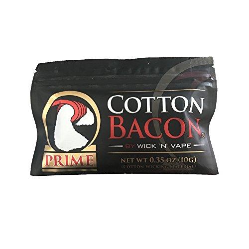 Cotton Bacon PRIME - Última versión - Paquete de algodón Vape - 10 piezas de algodón por bolsa