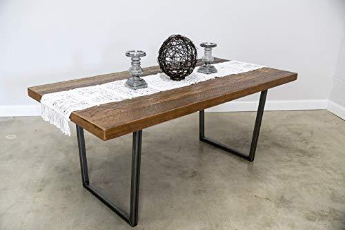 Modern Rustic Reclaimed Wood DiningTable With Custom Brooklynn Legs