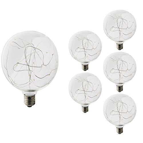 5 Stück E27 Kupferkabel Glühbirnen Edison Faden Birne Jahrgang 3W 220V Antiquität Lampe 125 * 165MM