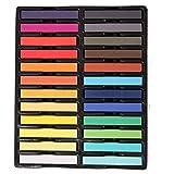 ZYCX123 Tiza Tiza del Pelo del Tinte Temporal del Cabello Colorido Pelo de la Tiza en Colores Pastel del Tinte Color de la Herramienta 24 de peluquería Maquillaje de Bricolaje para niñas de Estilismo