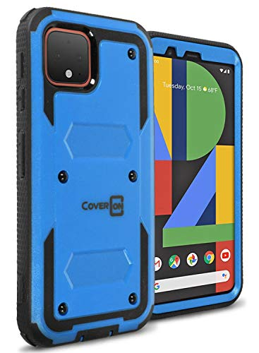 CoverON Heavy Duty Full Body Tank Series for OnePlus 6T Case, Blue