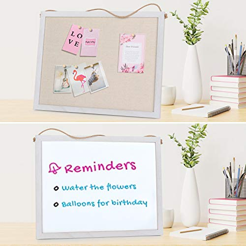 Emfogo Cork Board with 19x15 inch Combination White Board & Bulletin Cork Board 1-Pack Bulletin Board for Wall Home Office Decor,Home School Office Message Board or Vision Board Photo #3