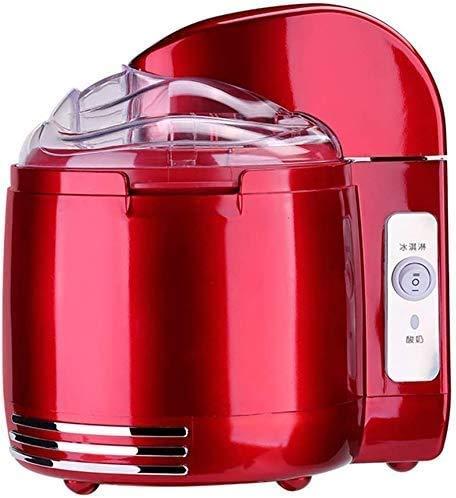 Eismaschine Maschine, 1,5 Liter Gelato Sorbet und Frozen Yogurt Maschine mit abnehmbaren Rührquirlprogramms, Easy für Clean, Kinder (Farbe: rot)