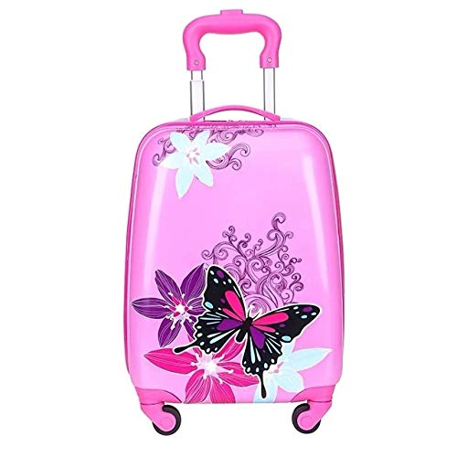 Mdsfe kids travel suitcase on wheels Cartoon rolling luggage Cute boy girls carry on cabin suitcase trolley luggage bag child gift HOT - 18 inch, 16'