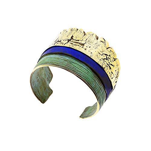 Pulsera en bronce con tres colores de la Colección Tres Capas