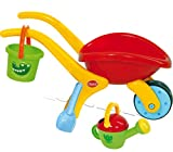 Gowi Toys Design Wheelbarrow Set with Bucket, Spade and Watering Can