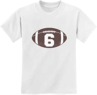 Gift for 6 Year Old Boy Football 6th Birthday Youth Kids T-Shirt