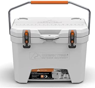 Ozark Trail 26-Quart High-Performance Cooler,With Durable,Secure T-handle latches,Heavy-Duty,Seamless,1piece Construction Virtually Unbreakable and Built to Last,Keeps Ice For More Than 4.5 days,White
