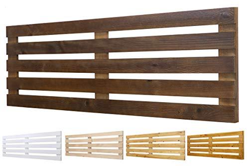 Testiera in legno massiccio mod. Venezia per letti da 80, 90, 110, 135, 150 cm. Accessori inclusi: 110 x 60 cm, noce.