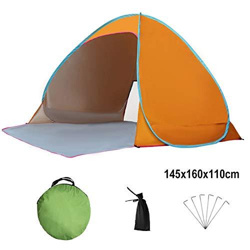 Tents de Plage Automatique UPF 50+ Anti-UV pour 2-3 Personnes Portable Abri Solaire Cabana Utilisation de Pique-Nique sur la Plage intérieure et extérieure