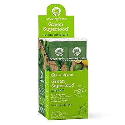 Amazing Grass Green Superfood Energy: Organic Yerba Mate and Matcha Green Tea Powder, Caffeine for energy plus One serving of Greens and Veggies
