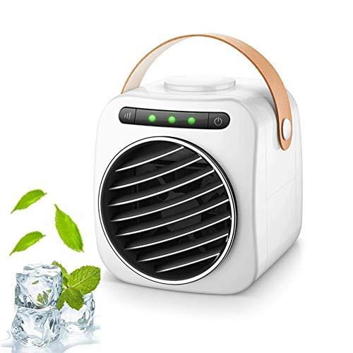 LHZHG Aire Acondicionado Móvil - Mini USB Climatizador Humidificador Purificador de Aire Ventilador Personal para Casa/Oficina/Viajar (Color : White)
