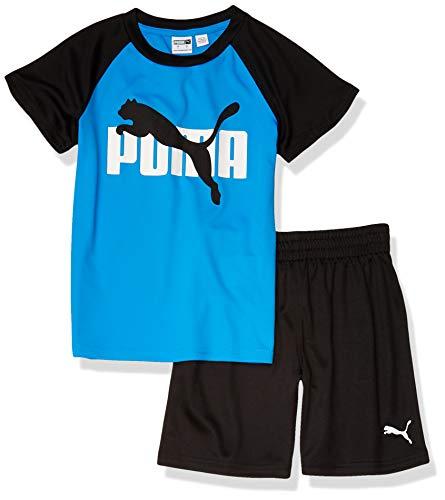 PUMA Boys' T-Shirt, Navy Blue, 6