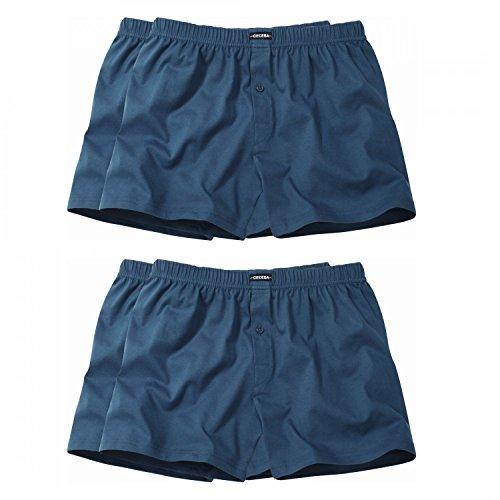 Ceceba 4 er Pack Jersey Boxershorts Pant Unterhosen Herren Marine Navy blau Größen XL - 8XL, Grösse:XXL - 8-56;Farbe:blau