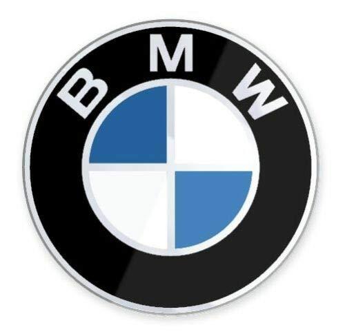 Esclusivo ADESIVO tondo in Resina 3D LOGO Compatibile per BMW AUTO-MOTO Diametro 50 mm