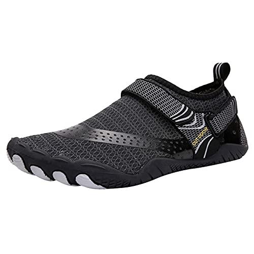Ghemdilmn Zapatillas de deporte para mujer, cómodas y transpirables, de malla, modernas, para montañismo, ligeras, cómodas, para exteriores, color Negro, talla 45 EU