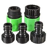 DLRSET Manguera para unir Tubo, 5PCS / Set 3/4 Pulgadas de plástico Manguera Connect, Herramienta de irrigación Conector Adaptador del Grifo del jardín de plástico de conexión rápida